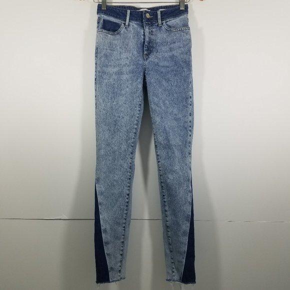 Zara Denim - Zara Two Tones 1981 Skinny Jeans Size 26